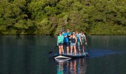 A Group Standup Kayaking on Lake Austin
