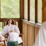 A Group of Women Relaxing at Lake Austin Spa Resort