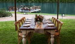 An Outdoor Table at Lake Austin Spa Resort