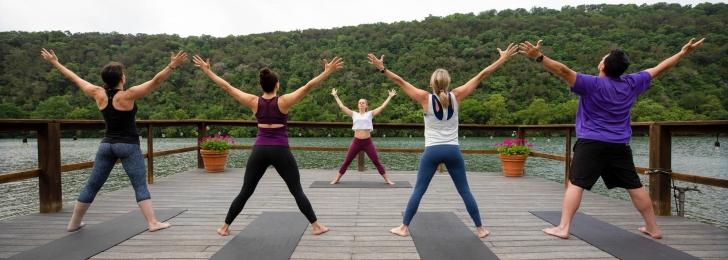 Yoga Al Fresco on Yoga Deck