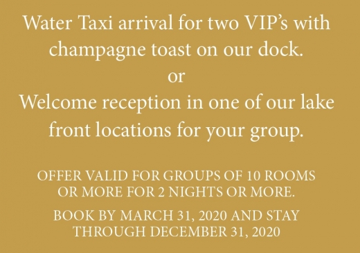 VIP Water Taxi Arrival Notice