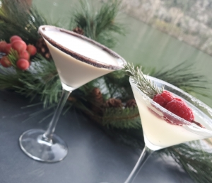 Two Holiday Martinis