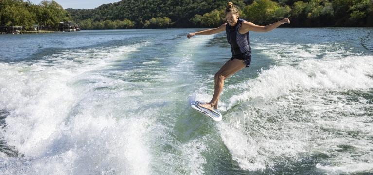 Wake Surfing at Lake Austin