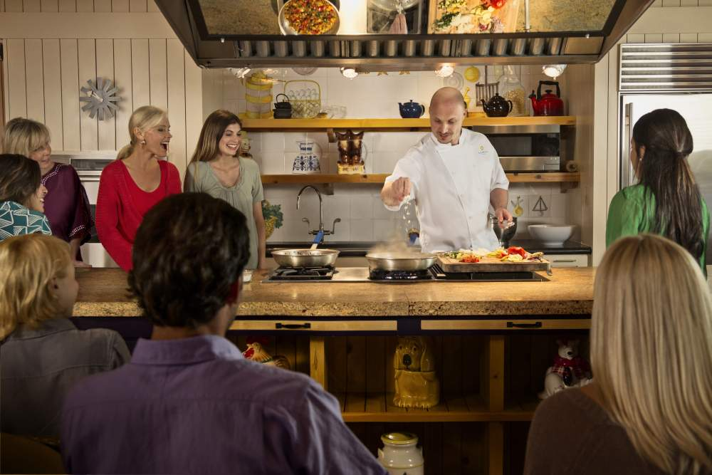 chef leads cooking class at Lake Austin Spa Resort